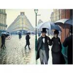 Puzzle-Michele-Wilson-A134-650 Puzzle aus handgefertigten Holzteilen - Caillebotte: Pariser Straße, regnerisch