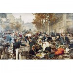 Puzzle-Michele-Wilson-A174-750 Holzpuzzles - Léon Lhermitte: Les Halles de Paris
