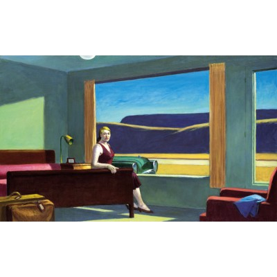 Puzzle-Michele-Wilson-A185-500 Holzpuzzle - Edward Hopper: Western Motel