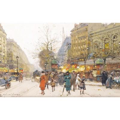 Puzzle-Michele-Wilson-A186-650 Holzpuzzle -  Eugène Galien-Laloue: Le Théâtre du Gymnase