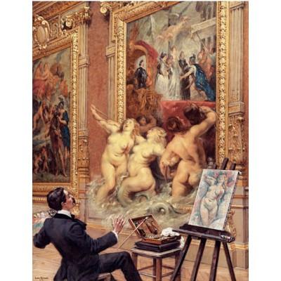 Puzzle-Michele-Wilson-A187-500 Holzpuzzle - Louis Béroud: Die Freuden der Überschwemmungen