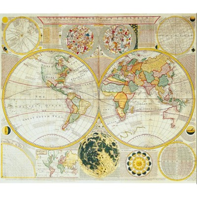 Puzzle-Michele-Wilson-A192-80 Holzpuzzle - Erde und Himmel, 18. Jahrhundert