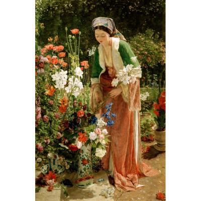 Puzzle-Michele-Wilson-A204-80 Puzzle aus handgefertigten Holzteilen - Lewis: Im Garten