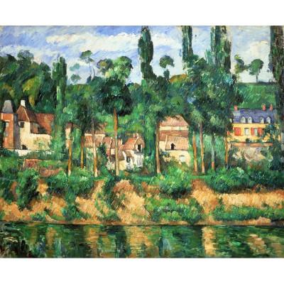 Puzzle-Michele-Wilson-A210-250 Puzzle aus handgefertigten Holzteilen - Paul Cézanne: Schloss in Médan