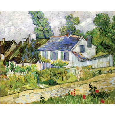 Puzzle-Michele-Wilson-A218-500 Puzzle aus handgefertigten Holzteilen - Vincent van Gogh: Haus in Auvers