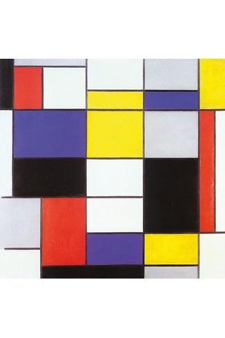 Puzzle-Michele-Wilson-A231-80 Puzzle aus handgefertigten Holzteilen - Piet Mondrian: Composition 123