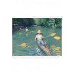 Puzzle-Michele-Wilson-A236-350 Puzzle aus handgefertigten Holzteilen - Gustave Caillebotte: Kanus auf der Yerres