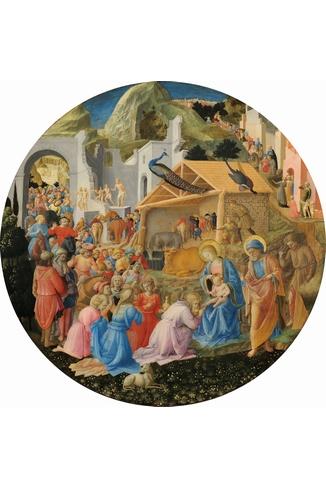 Puzzle-Michele-Wilson-A243-350 Puzzle aus handgefertigten Holzteilen - Fra Angelico: Die Anbetung der Heiligen Drei Könige