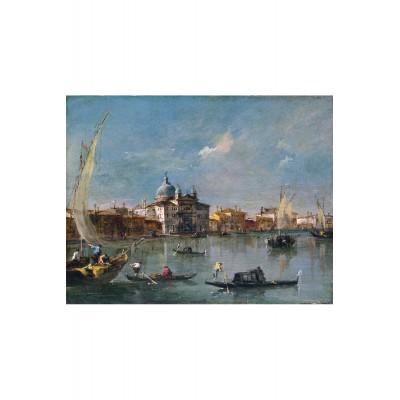 Puzzle-Michele-Wilson-A247-650 Puzzle aus handgefertigten Holzteilen - Francesco Guardi: Blick auf den Kanal von Cannaregio