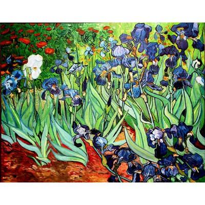 Puzzle-Michele-Wilson-A270-500 Puzzle aus handgefertigten Holzteilen - Van Gogh: Iris