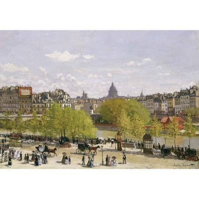 Puzzle-Michele-Wilson-A287-650 Puzzle aus handgefertigten Holzteilen - Monet: Quai du Louvre, Paris