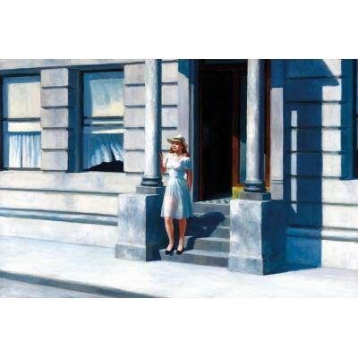 Puzzle-Michele-Wilson-A307-1000 Puzzle aus handgefertigten Holzteilen - Edward Hopper: Sommerzeit