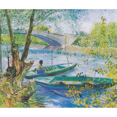 Puzzle-Michele-Wilson-A327-350 Puzzle aus handgefertigten Holzteilen - Vincent van Gogh: Fischen im Frühling