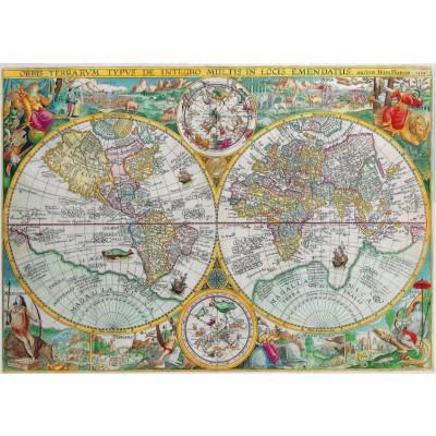 Puzzle-Michele-Wilson-A350-500 Puzzle aus handgefertigten Holzteilen - Weltkarte von 1594