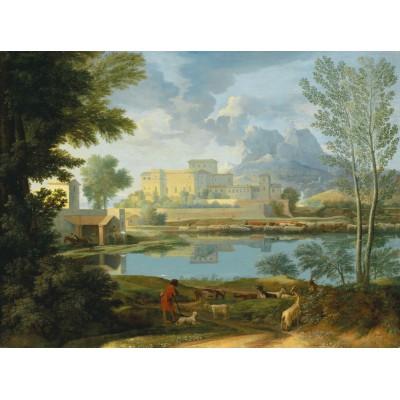 Puzzle-Michele-Wilson-A368-1000 Puzzle aus handgefertigten Holzteilen - Nicolas Poussin: Stille Landschaft