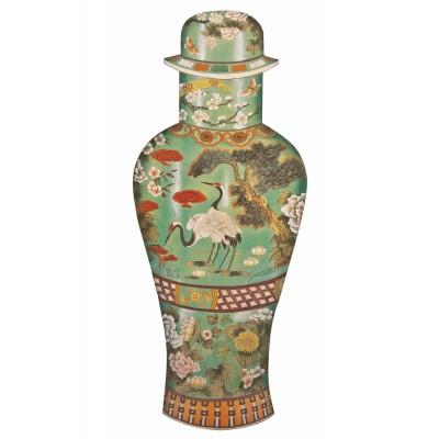 Puzzle-Michele-Wilson-A390-350 Holzpuzzle - Chinesiche Kunst - Celadon Vase