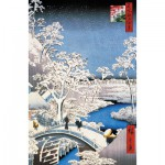 Puzzle-Michele-Wilson-A566-250 Puzzle aus handgefertigten Holzteilen - Hiroshige: Brücke in Meguro