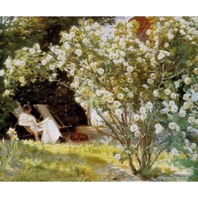 Puzzle-Michele-Wilson-A578-350 Puzzle aus handgefertigten Holzteilen - Peder Severin Kroyer: Unter dem Rosenstrauch