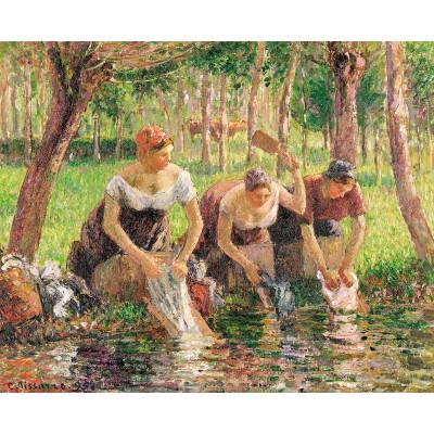 Puzzle-Michele-Wilson-A717-500 Puzzle aus handgefertigten Holzteilen - Pissarro: Die Waschfrauen
