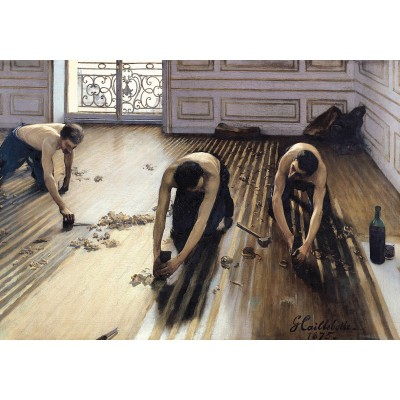 Puzzle-Michele-Wilson-A817-500 Puzzle aus handgefertigten Holzteilen - Caillebotte: Die Parketthobler