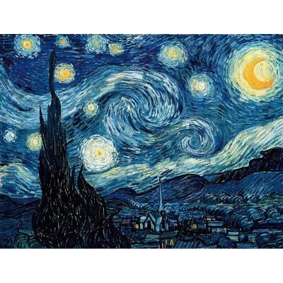 Puzzle-Michele-Wilson-A848-350 Puzzle aus handgefertigten Holzteilen - Vincent van Gogh: Sternennacht