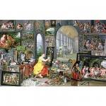Puzzle-Michele-Wilson-A916-900 Puzzle aus handgefertigten Holzteilen - Brueghel: Allegorie der Malerei