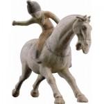 Puzzle-Michele-Wilson-A941-150 Puzzle aus handgefertigten Holzteilen - Chinesische Kunst, Polospielerin