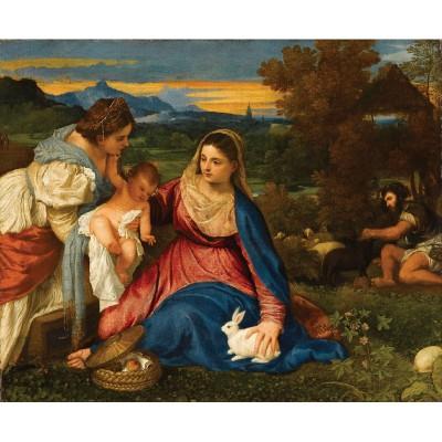 Puzzle-Michele-Wilson-A953-150 Puzzle aus handgefertigten Holzteilen - Titian: Madonna mit Hase