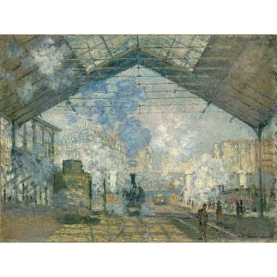 Puzzle-Michele-Wilson-A959-350 Puzzle aus handgefertigten Holzteilen - Monet: Der Bahnhof Saint-Lazare