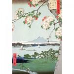 Puzzle-Michele-Wilson-A974-150 Puzzle aus handgefertigten Holzteilen - Hiroshige: Blühender Apfelbaum