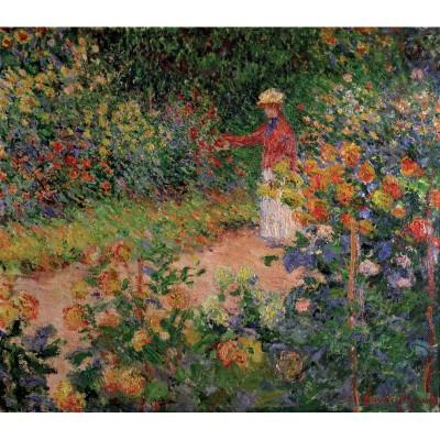 Puzzle-Michele-Wilson-A979-150 Puzzle aus handgefertigten Holzteilen - Monet: Monets Garten in Giverny