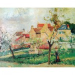 Puzzle-Michele-Wilson-A984-1000 Puzzle aus handgefertigten Holzteilen - Pissarro: Pflaumenbäume