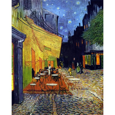 Puzzle-Michele-Wilson-C36-1000 Puzzle aus handgefertigten Holzteilen - Vincent van Gogh: Caféterrasse am Abend