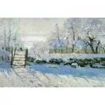 Puzzle-Michele-Wilson-C803-80 Puzzle aus handgefertigten Holzteilen - Monet: Die Elster