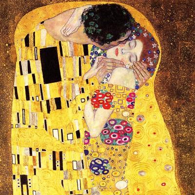 Puzzle-Michele-Wilson-Cuzzle-Z10 Puzzle aus handgefertigten Holzteilen - Gustav Klimt: Der Kuss