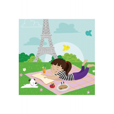 Puzzle-Michele-Wilson-Cuzzle-Z13 Holzpuzzle - Kollektion Paris: Picknick in Paris