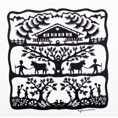 Puzzle-Michele-Wilson-Cuzzle-Z29 Puzzle aus handgefertigten Holzteilen - Alm