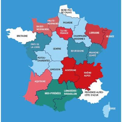 Puzzle-Michele-Wilson-Cuzzle-Z31 Puzzle aus handgefertigten Holzteilen - Frankreichkarte mit Regionen