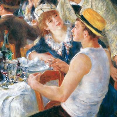 Puzzle-Michele-Wilson-Cuzzle-Z35 Puzzle aus handgefertigten Holzteilen - Pierre-Auguste Renoir: Das Frühstück der Ruderer