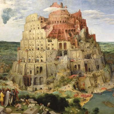Puzzle-Michele-Wilson-Cuzzle-Z516 Puzzle aus handgefertigten Holzteilen - Pieter Brueghel der Ältere: Turmbau zu Babel