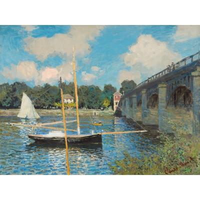 Puzzle-Michele-Wilson-H246-300 Puzzle aus handgefertigten Holzteilen - Claude Monet: Die Brücke von Argenteuil