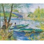 Puzzle-Michele-Wilson-H327-200 Puzzle aus handgefertigten Holzteilen - Vincent van Gogh: Fischen im Frühling