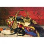 Puzzle  Puzzle-Michele-Wilson-H382-200 Evariste Carpentier: Katzenfamilie im Korb