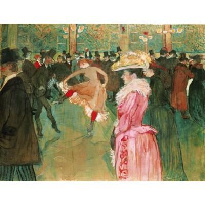 Puzzle Puzzle-Michele-Wilson-H384-200 Henri de Toulouse-Lautrec: Ball im Moulin Rouge