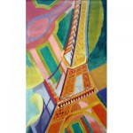 Puzzle-Michele-Wilson-M110-40 Puzzle aus handgefertigten Holzteilen - Delaunay: Eiffelturm