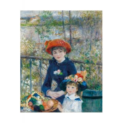 Puzzle-Michele-Wilson-M393-40 Puzzle aus handgefertigten Holzteilen - Pierre-Auguste Renoir: Die zwei Schwestern