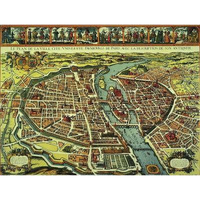Puzzle-Michele-Wilson-P812-500 Puzzle aus handgefertigten Holzteilen - Plan von Paris 17. Jhd.