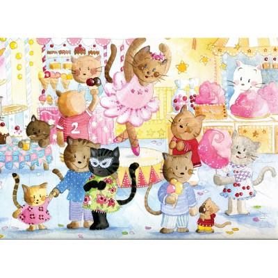Puzzle-Michele-Wilson-W150-12 Puzzle aus handgefertigten Holzteilen - Barcilon: Das Fest der Katzen