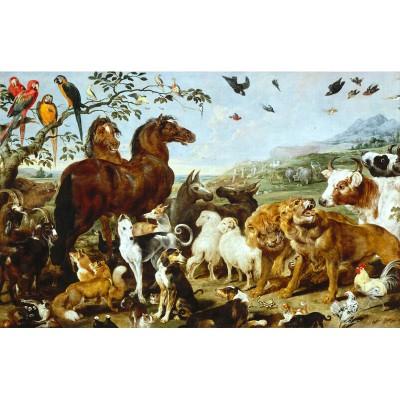 Puzzle-Michele-Wilson-W157-12 Puzzle aus handgefertigten Holzteilen - Vos: Tiere auf der Arche Noah