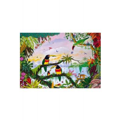 Puzzle Puzzle-Michele-Wilson-W162-100 Alain Thomas: Im Dschungel